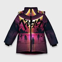 Куртка зимняя для девочки BERSERK цвета 3D-черный — фото 1