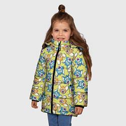 Куртка зимняя для девочки Jerry: Pattern цвета 3D-черный — фото 2