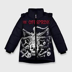 Куртка зимняя для девочки Offspring цвета 3D-черный — фото 1