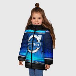 Куртка зимняя для девочки VOLVO цвета 3D-черный — фото 2