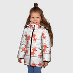Куртка зимняя для девочки Милый олень цвета 3D-черный — фото 2