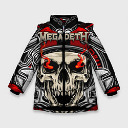 Куртка зимняя для девочки Megadeth цвета 3D-черный — фото 1