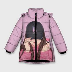 Куртка зимняя для девочки BTS цвета 3D-черный — фото 1