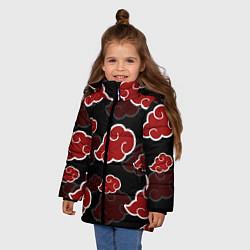 Куртка зимняя для девочки AKATSUKI цвета 3D-черный — фото 2