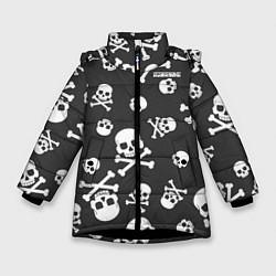 Детская зимняя куртка для девочки с принтом Scorpions, цвет: 3D-черный, артикул: 10220591306065 — фото 1