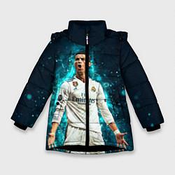 Куртка зимняя для девочки Роналдо цвета 3D-черный — фото 1