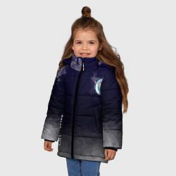Куртка зимняя для девочки Manchester City цвета 3D-черный — фото 2