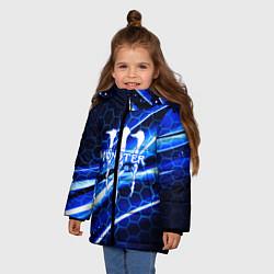 Куртка зимняя для девочки MONSTER ENERGY цвета 3D-черный — фото 2