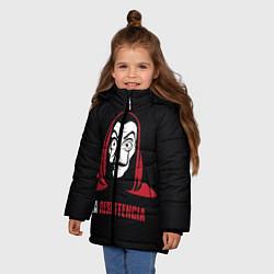 Куртка зимняя для девочки VALORANT цвета 3D-черный — фото 2