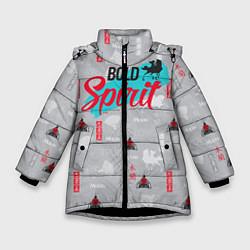 Куртка зимняя для девочки Bold Spirit цвета 3D-черный — фото 1
