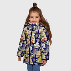 Куртка зимняя для девочки Пионы Японии Summer Loves You цвета 3D-черный — фото 2