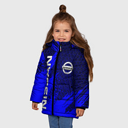 Куртка зимняя для девочки NISSAN цвета 3D-черный — фото 2