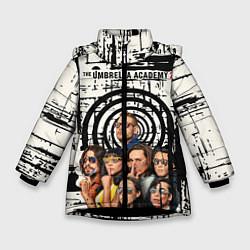 Куртка зимняя для девочки The Umbrella Academy цвета 3D-черный — фото 1