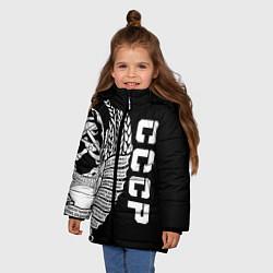 Куртка зимняя для девочки СССР цвета 3D-черный — фото 2