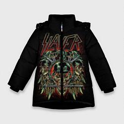 Куртка зимняя для девочки Slayer цвета 3D-черный — фото 1