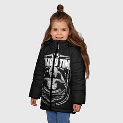 Куртка зимняя для девочки The Eagle цвета 3D-черный — фото 2