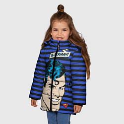 Куртка зимняя для девочки Superman! цвета 3D-черный — фото 2