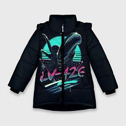 Куртка зимняя для девочки The Alien цвета 3D-черный — фото 1