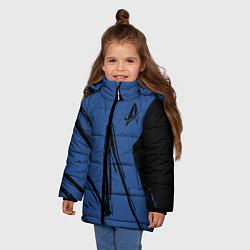 Куртка зимняя для девочки Star Trek цвета 3D-черный — фото 2