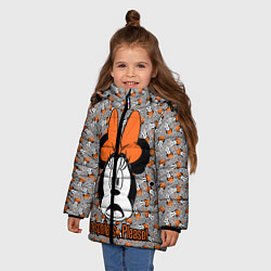 Детская зимняя куртка для девочки с принтом No spoilers , please!, цвет: 3D-черный, артикул: 10261225106065 — фото 2