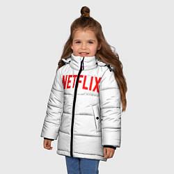 Куртка зимняя для девочки NETFLIX цвета 3D-черный — фото 2