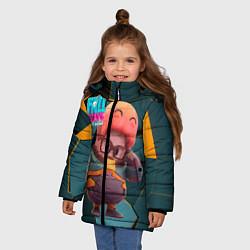 Куртка зимняя для девочки Fall Guys Gordon Freeman цвета 3D-черный — фото 2