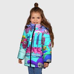 Куртка зимняя для девочки Fall Guys цвета 3D-черный — фото 2