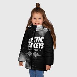 Куртка зимняя для девочки Arctic Monkeys цвета 3D-черный — фото 2