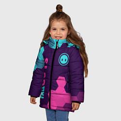 Куртка зимняя для девочки FALL GUYS ФОЛ ГАЙС цвета 3D-черный — фото 2