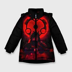 Куртка зимняя для девочки Итачи Учиха цвета 3D-черный — фото 1