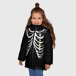 Куртка зимняя для девочки Вилка в груди цвета 3D-черный — фото 2