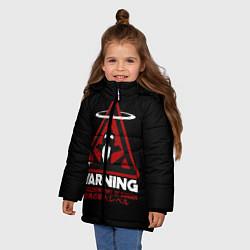 Куртка зимняя для девочки Евангелион цвета 3D-черный — фото 2