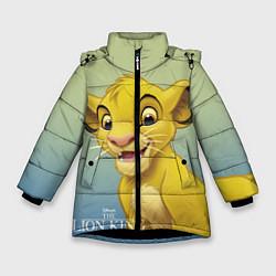 Куртка зимняя для девочки Юный Симба цвета 3D-черный — фото 1