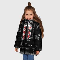 Куртка зимняя для девочки Итачи цвета 3D-черный — фото 2