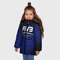 Куртка зимняя для девочки FIVB Volleyball цвета 3D-черный — фото 2