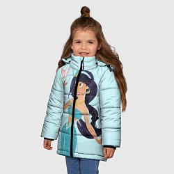 Куртка зимняя для девочки Жасмин цвета 3D-черный — фото 2