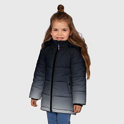 Куртка зимняя для девочки Градиент цвета 3D-черный — фото 2