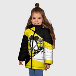 Куртка зимняя для девочки Pittsburgh Penguins Exclusive цвета 3D-черный — фото 2