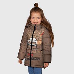 Куртка зимняя для девочки Carl Fredricksen цвета 3D-черный — фото 2
