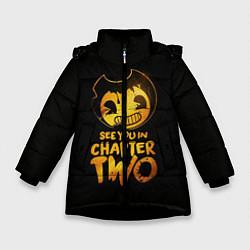 Куртка зимняя для девочки Bendy And The Ink Machine цвета 3D-черный — фото 1