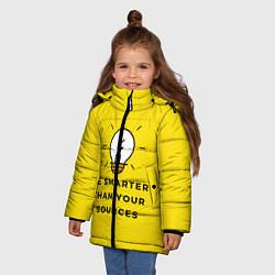 Куртка зимняя для девочки Будьте умнее своих источников цвета 3D-черный — фото 2
