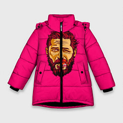 Куртка зимняя для девочки ХАРДИ цвета 3D-черный — фото 1