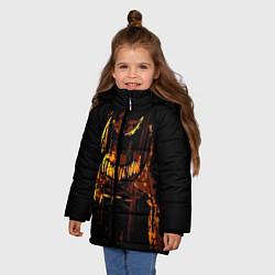 Куртка зимняя для девочки Bendy And The Ink Machine цвета 3D-черный — фото 2