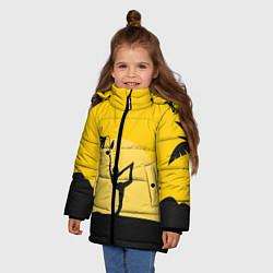 Куртка зимняя для девочки Гармония Утра цвета 3D-черный — фото 2