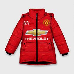 Куртка зимняя для девочки MANCHESTER UNITED 2021 - HOME цвета 3D-черный — фото 1