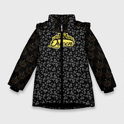 Куртка зимняя для девочки Queen цвета 3D-черный — фото 1
