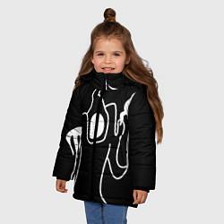 Куртка зимняя для девочки Haunted Family цвета 3D-черный — фото 2