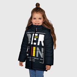 Куртка зимняя для девочки Немецкое пиво цвета 3D-черный — фото 2