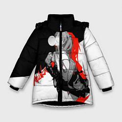 Куртка зимняя для девочки Asuka Langley Evangelion цвета 3D-черный — фото 1