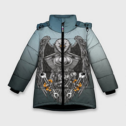 Детская зимняя куртка для девочки с принтом Master, цвет: 3D-черный, артикул: 10278347906065 — фото 1